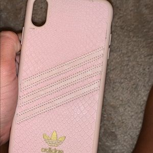 Pink adidas iPhone XS Max case